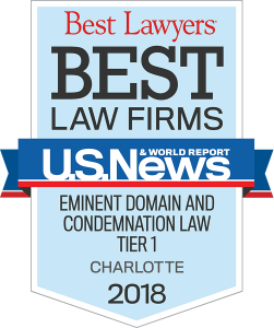 best law firm charlotte eminent domain 2018