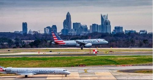 charlotte airport land